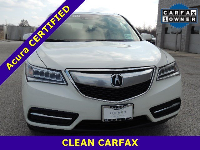 Certified Pre-Owned 2016 Acura MDX SH-AWDw/Tech