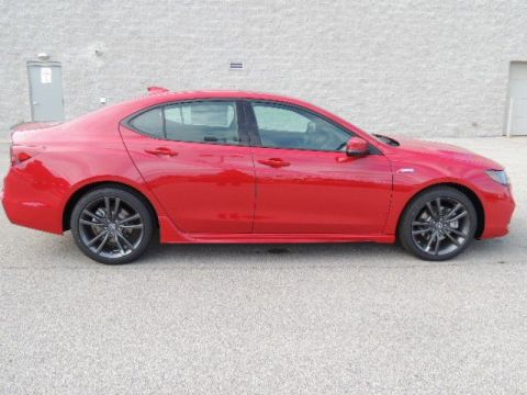 New 2019 Acura TLX FWD w/A-SPEC Pkg Red Leather